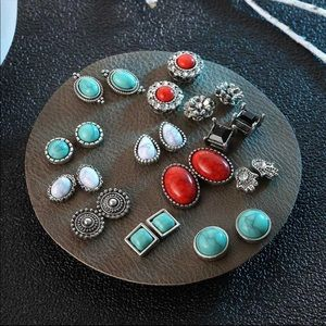 Jewelry - 12 pairs stud earrings fashion gift jewelry